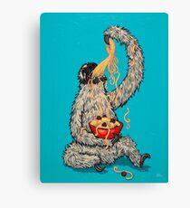A Sloth Eating Spaghetti Leinwanddruck