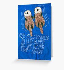 Otter Grußkarte