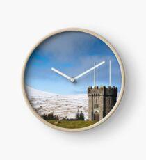 Beacons Reservoir Tower, Brecon Beacons, Wales UK Clock