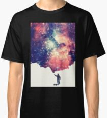 Painting the universe (Colorful Negative Space Art) Classic T-Shirt
