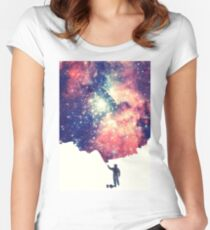 Painting the universe (Colorful Negative Space Art) Women's Fitted Scoop T-Shirt