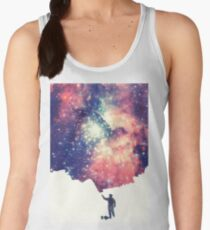Painting the universe (Colorful Negative Space Art) Women's Tank Top