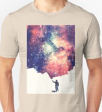 Painting the universe (Colorful Negative Space Art) Unisex T-Shirt