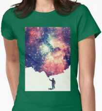 Painting the universe (Colorful Negative Space Art) Womens Fitted T-Shirt