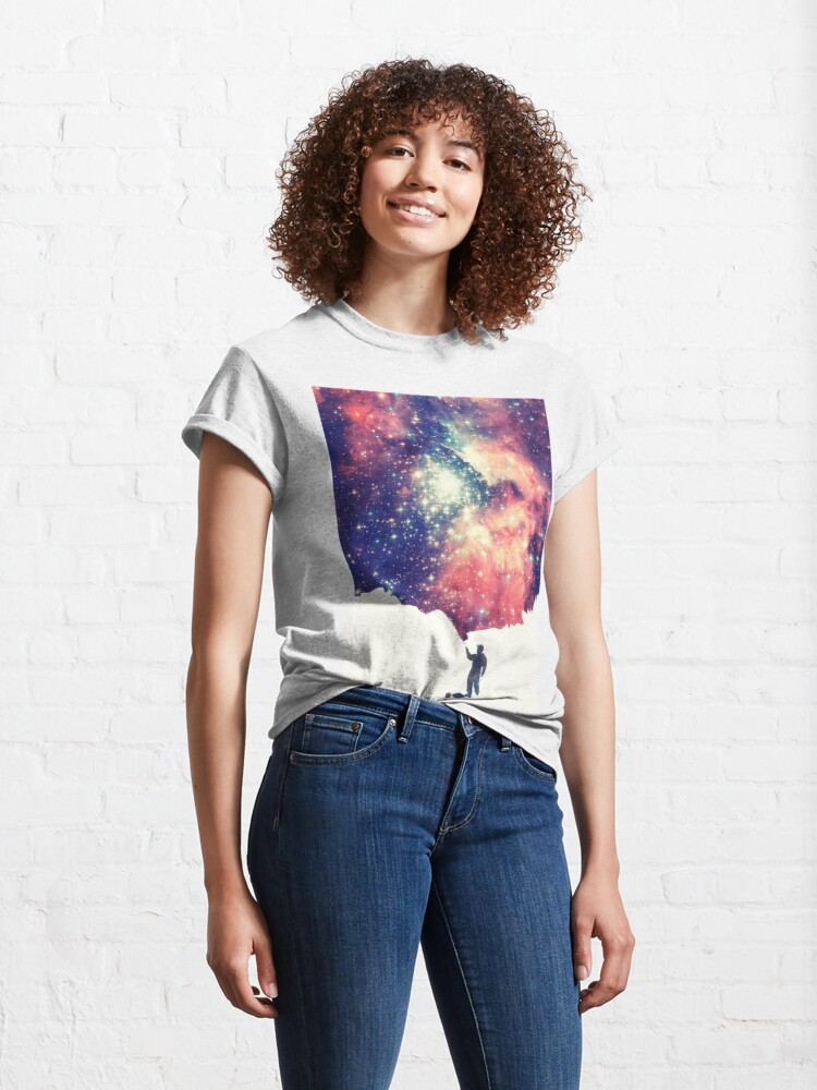 Alternate view of Painting the universe (Colorful Negative Space Art) Classic T-Shirt
