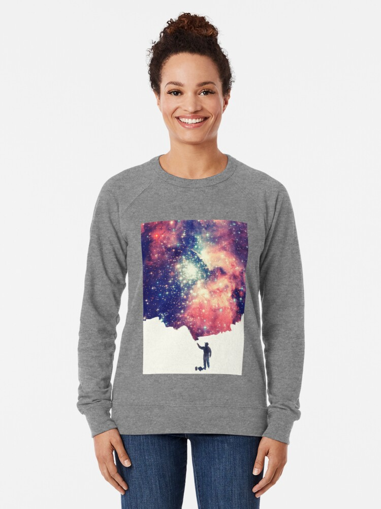 Alternative Ansicht von Painting the universe (Colorful Negative Space Art) Leichter Pullover
