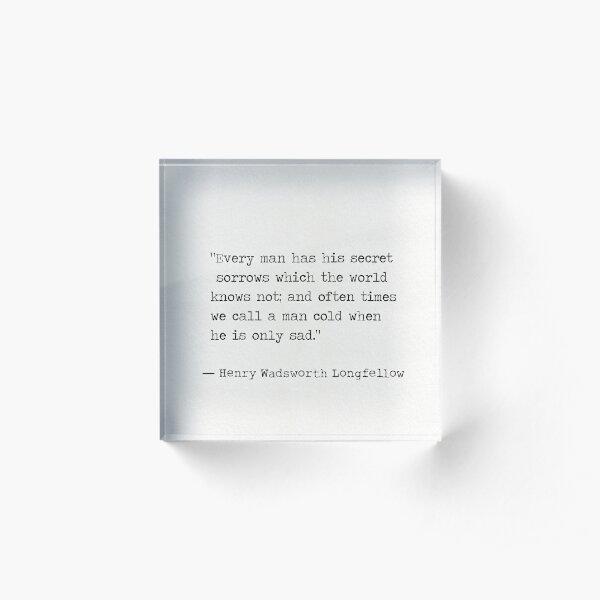 Henry Wadsworth Longfellow Acrylic Block