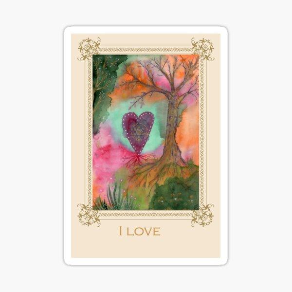 I love -Tree affirmation card Sticker