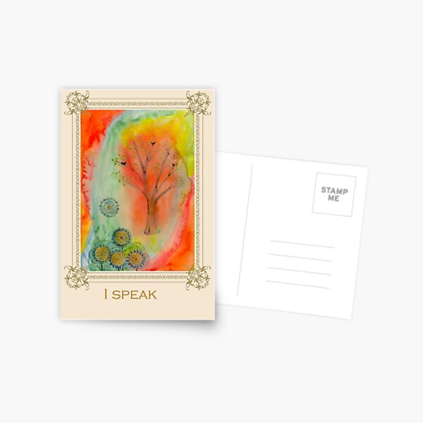I speak - Tree affirmation card Postcard