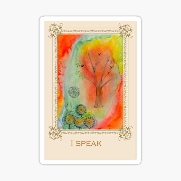 I speak - Tree affirmation card Sticker