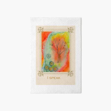 I speak - Tree affirmation card Art Board Print
