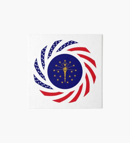 Indiana Murican Patriot Flag Series Art Board Print