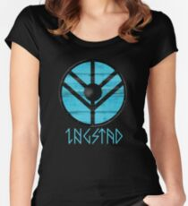 VIKING SHIELD - LAGERTHA SHIELD - EARL INGSTAD Women's Fitted Scoop T-Shirt