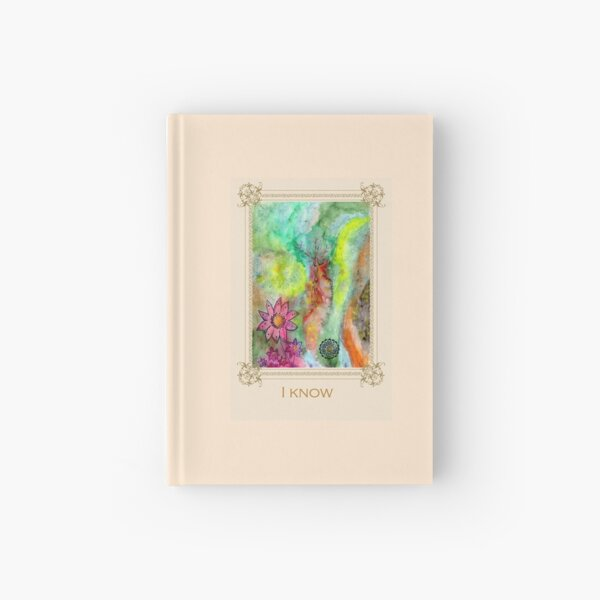 I know - Tree affirmation card Hardcover Journal