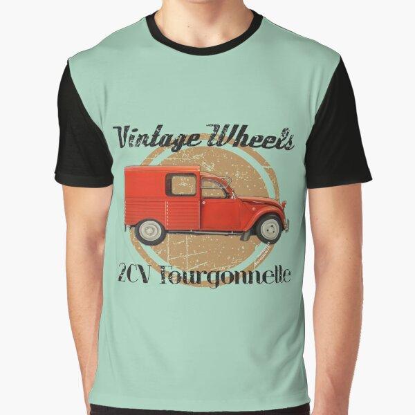 Vintage Wheels: Citroën 2CV Fourgonnette Graphic T-Shirt