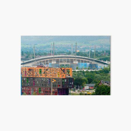 Etihad Stadium, the home of  Manchester City Football Club Art Board Print