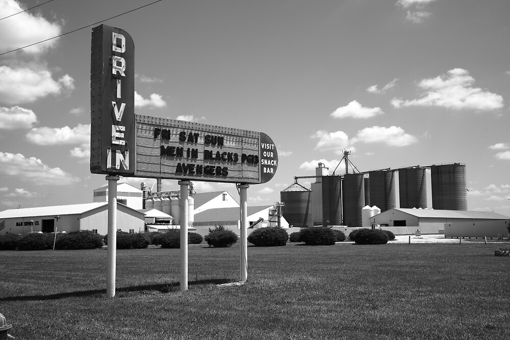 Route 66 Drive-In Theater by Frank Romeo