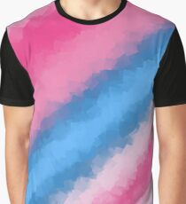 Cotton Candy Soft Rainbow Colors Graphic T-Shirt