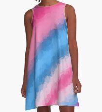 Cotton Candy Soft Rainbow Colors A-Line Dress