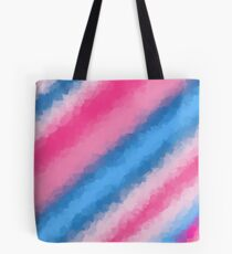 Cotton Candy Soft Rainbow Colors Tote Bag