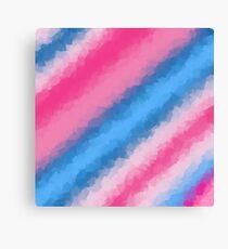 Cotton Candy Soft Rainbow Colors Canvas Print
