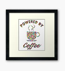 Powered By Colorful Coffee  Framed Print