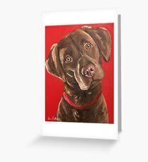 Chocolate Lab Art Greeting Card