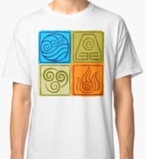 The Four Elements - Avatar: The Last Airbender Classic T-Shirt