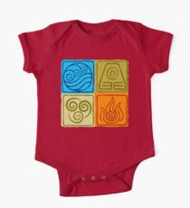 The Four Elements - Avatar: The Last Airbender One Piece - Short Sleeve