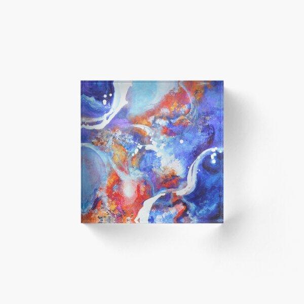 Flow - non objective art in acrylic Acrylic Block