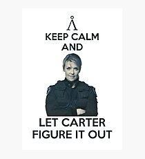 Keep calm and let Carter figure it out Photographic Print