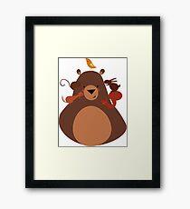 ANIMAL BEAR Framed Print