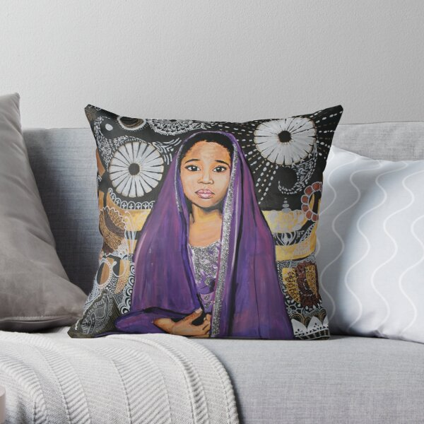 Lil Goddess Throw Pillow