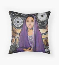 Lil Goddess Throw Pillow