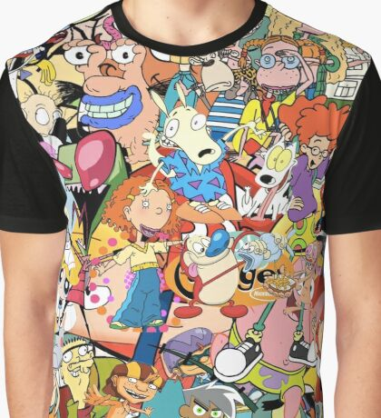 Childhood Cartoons Graphic T-Shirt