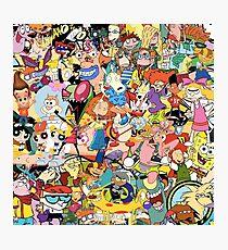 Childhood Cartoons Photographic Print