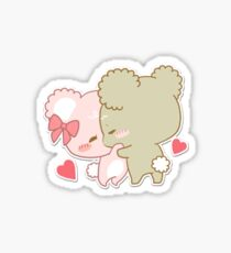 sugar cubs - kissing Sticker