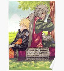 Naruto and Jiraya ( Sensei and Student )  Poster