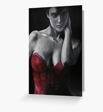Red Corset #4 Greeting Card