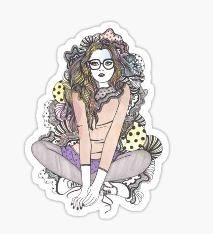 world of my own Sticker