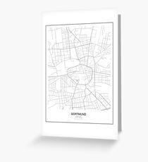 Dortmund Minimalist Map Greeting Card