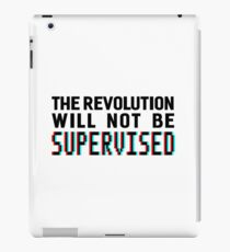 The revolution will not be supervised, black font (3D) iPad Case/Skin