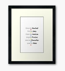 Friends Graphic Framed Print
