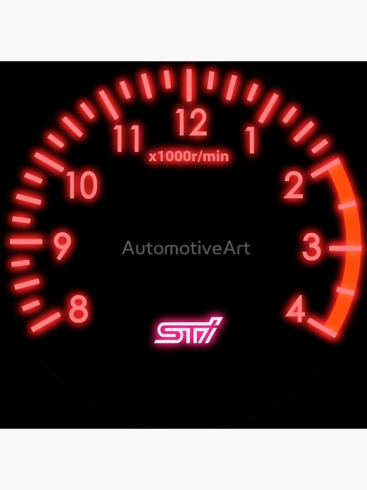 STI Tachometer Clock by AutomotiveArt