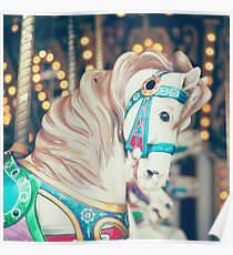 Pauly Carousel Horse Poster