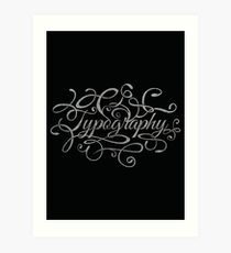 Typography on Typography Art Print