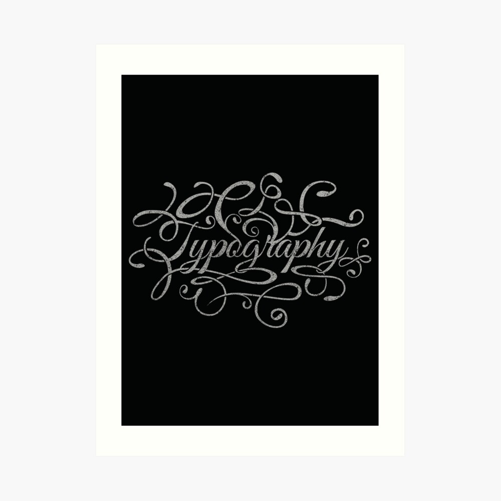 Typography on Typography Art Print