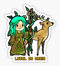 Level 20 Druid Sticker