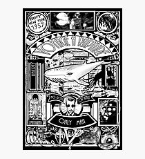 BIOSHOCK JULES VERNE STYLE BW Photographic Print