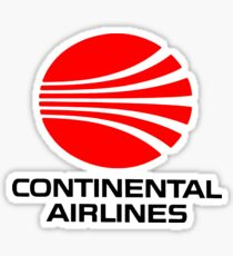Continental Airlines Sticker